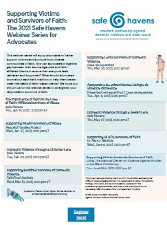 Supporting Victims and Survivors of Faith: Webinar Series for Advocates